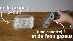 Une recette de pâte à crêpes avec seulement deux
