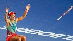 La joie d'Angelique Kerber, qui renverse Serena Williams à