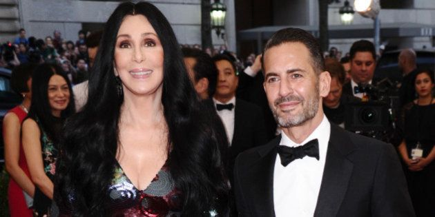 Cher, left, and Marc Jacobs arrive at The Metropolitan Museum of Art's Costume Institute benefit gala