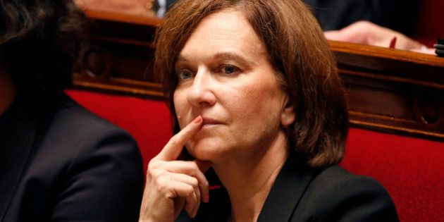 French Junior minister for Familly matters Laurence Rossignol attends the questions to the government...