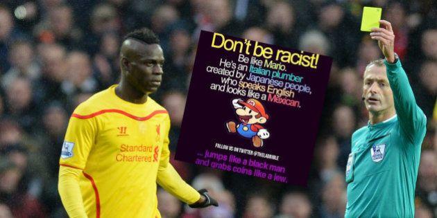 Mario Balotelli suspendu pour une image raciste publiée sur