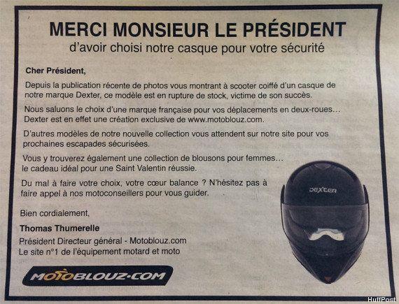 PHOTO. L'affaire Hollande - Gayet fait le bonheur d'une marque de