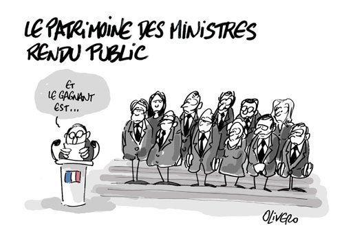 Le patrimoine des ministres rendu