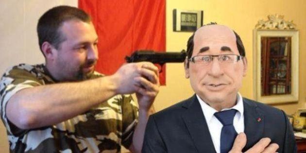 Épinglé pour avoir mimé une exécution d'Hollande, un candidat FN plaide