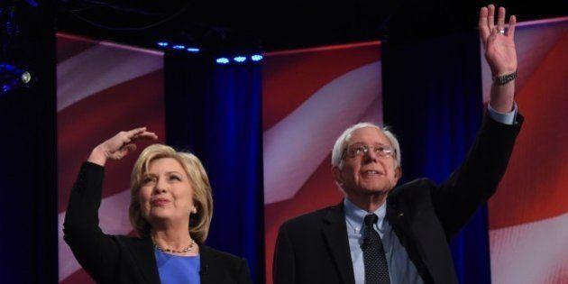 Hillary Clinton et Bernie Sanders à