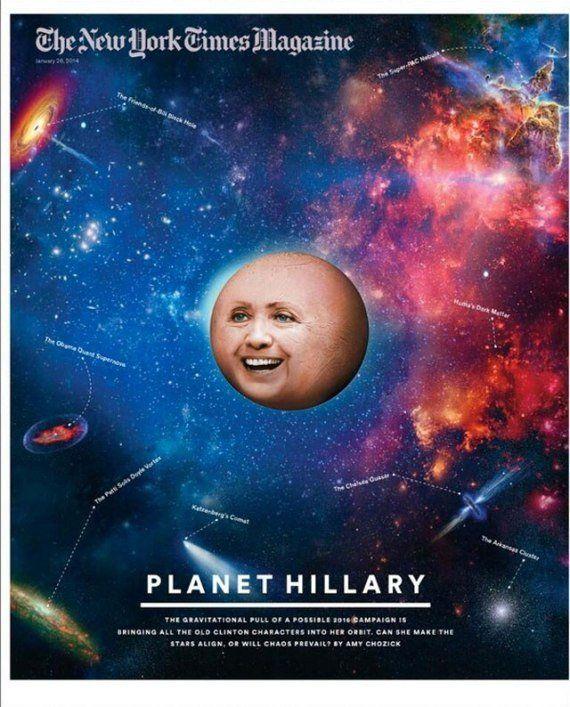 PHOTOS. Hillary Clinton, transformée en planète par le
