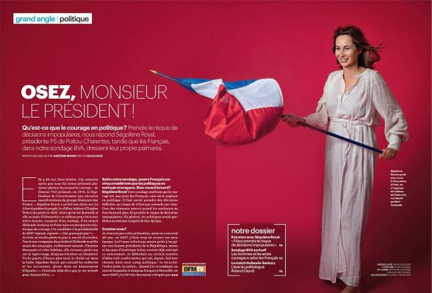 Ségolène Royal pose pour Le Parisien Magazine en Liberté guidant le