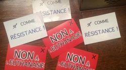 Des tracts anti-euthanasie jetés sur les députés au moment du vote sur la fin de