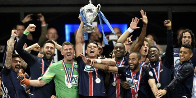 Le PSG réalise le premier triplé Championnat-Coupe de France-Coupe de la Ligue de
