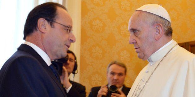 VIDEO - Hollande rencontre le pape François dans une ambiance