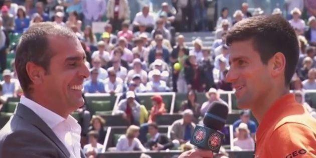 VIDÉO. Roland-Garros 2015: Novak Djokovic attend le feu vert de sa femme pour aller encourager le PSG...