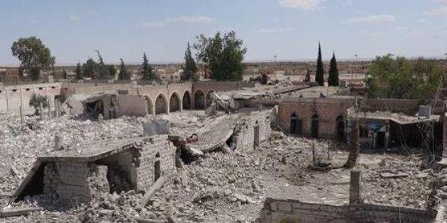 PHOTOS. La prison de Palmyre en Syrie détruite par l'État