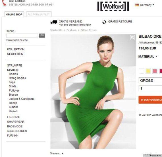PHOTOS. Photoshop a frappé sur le site marchand de la marque