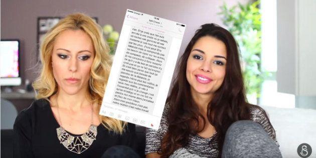 Caroline balance les messages privés de sa co-YouTubeuse