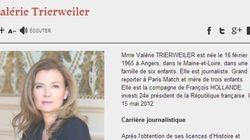 Trierweiler n'est plus première dame sur internet non