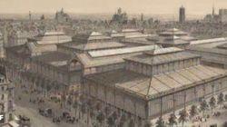 L'évolution des Halles de Paris entre 1852 et 2016 en un