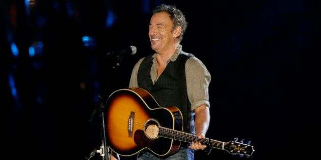 Musician Bruce Springsteen performs during The Concert for Valor on the National Mall on Veterans' Day...