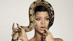 PHOTOS. Rihanna s'affiche avec un serpent en couverture du numéro spécial 25e anniversaire du GQ