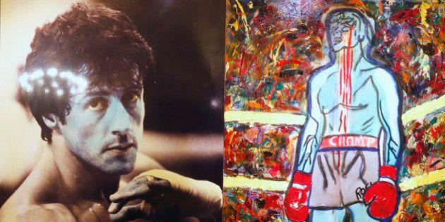PHOTOS. L'acteur américain Sylvester Stallone expose ses tableaux au Musée