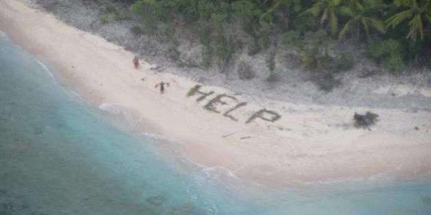 PHOTOS. Le sauvetage de ces trois marins sur une île déserte est digne d'un