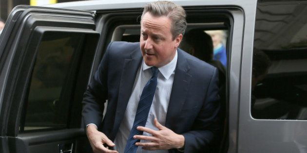 Britain's Prime Minister, David Cameron, arrives to address the Conservative Spring Forum in central...