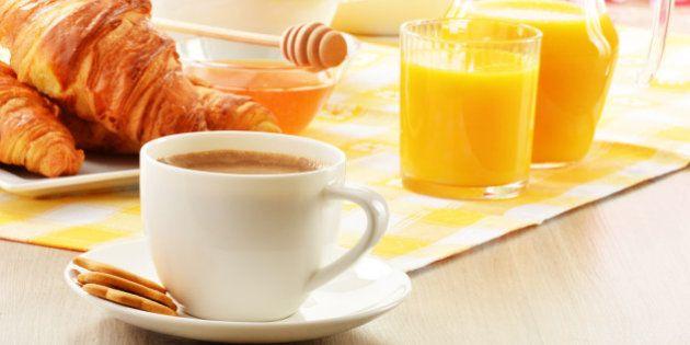 breakfast with coffee  orange...