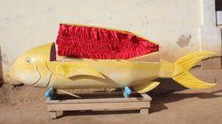 Des cercueils en forme de lion ou de