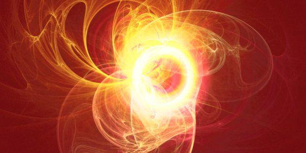 Solar flare like swirling hot