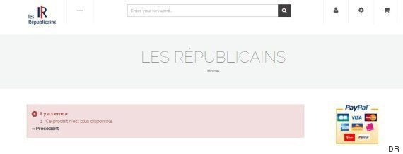 Boutique Les Républicains: les mannequins sont aussi ceux de t-shirts fantaisies vendus en
