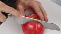 Un tuto pour bien découper sa pomme à