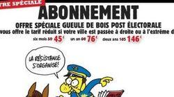 Charlie Hebdo baisse ses prix dans les villes passées à droite et au