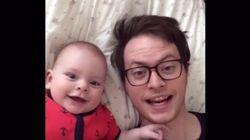 Un père et son bébé se sont amusés sur Dubsmash pendant un