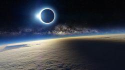 Non, l'éclipse ne ressemblait pas à ça depuis