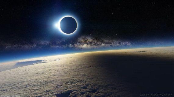 PHOTO. Non, l'éclipse du 20 mars 2015 ne ressemblait pas à ça depuis la Station spatiale