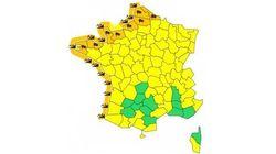 16 départements en vigilance orange pour vents violents et