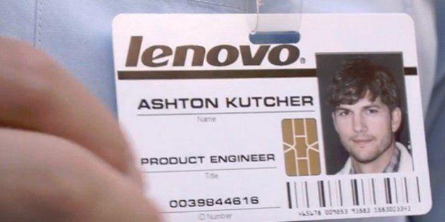 VIDÉO. Ashton Kutcher chez Lenovo, après avoir incarné Steve