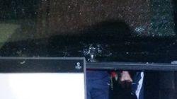 Le bus des joueurs parisiens caillassé à son arrivée au