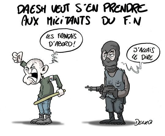 Daech menace les militants du