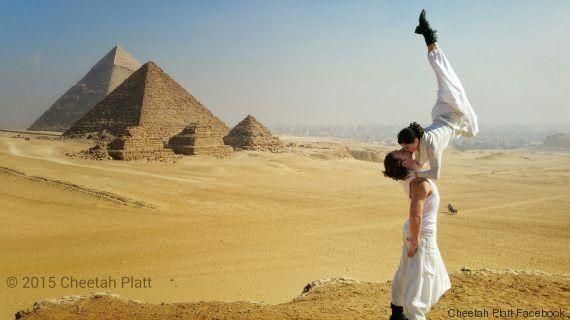 PHOTOS. Mariage insolite: ce couple d'acrobates se dit