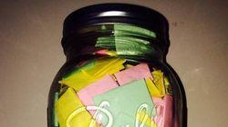 Un bocal de 365 billets doux en cadeau de