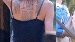 Angelina Jolie a trois nouveaux tatouages (et ils ne sont pas