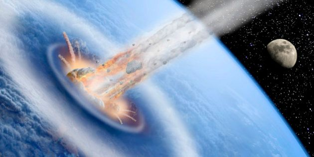 Asteroid impact on