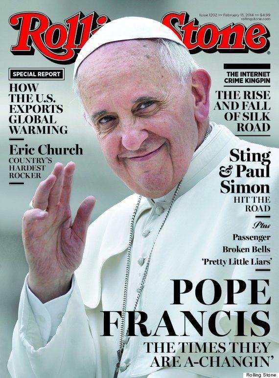 PHOTO. Le pape François en une du magazine Rolling Stone (c'est une première pour un