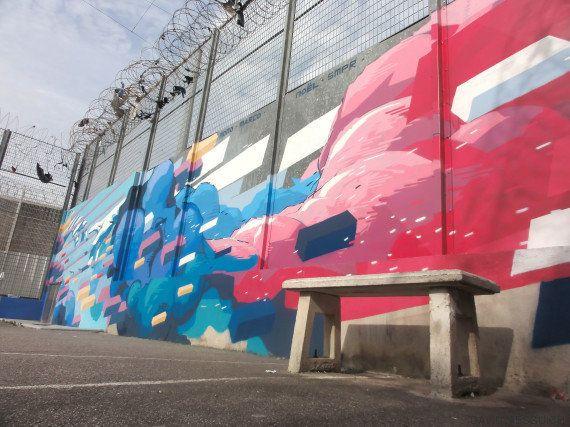 PHOTOS. Aux Baumettes, les fresques de David Mesguich redonnent des couleurs à la