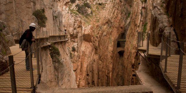 PHOTOS. Caminito del Rey, le chemin le plus dangereux du monde, rouvre au