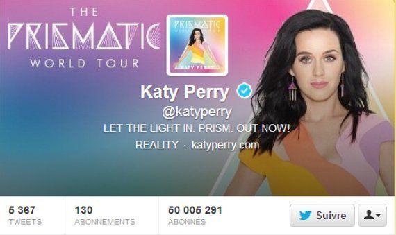 Katy Perry est la première à atteindre les 50 millions de followers sur