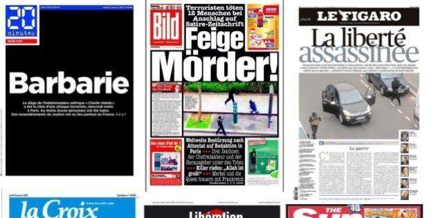 Attentat à Charlie Hebdo: Les unes de la presse française et étrangère qui rendent hommage aux