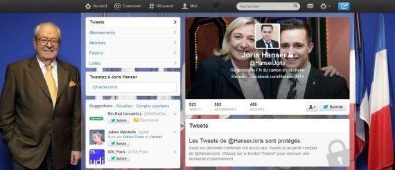 Un candidat FN exclu pour ses dérapages sur Twitter et