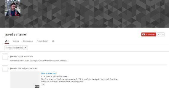 Google énerve le premier utilisateur de YouTube en changeant le système de