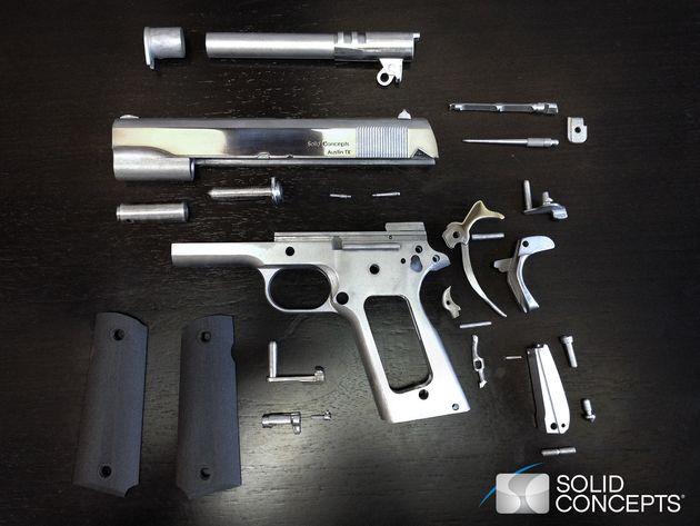 Une société américaine affirme avoir fabriqué la première arme en métal en